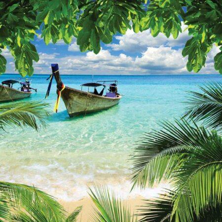 Fotomural Barcas en la Playa 225 VE