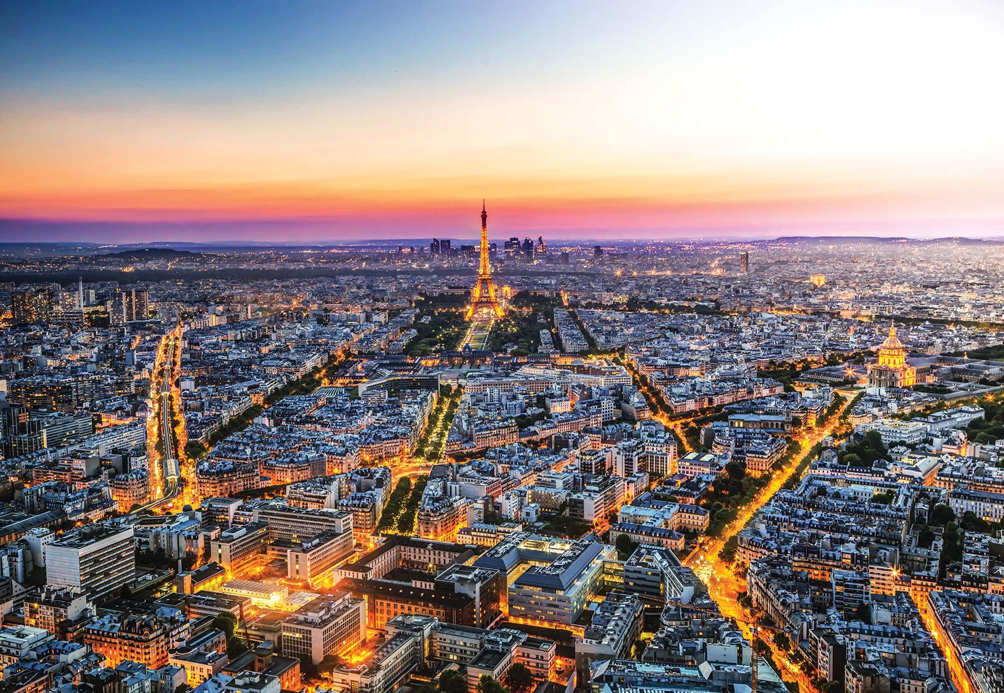Fotomural Atardecer En Paris 1908 Ve Torre Eiffel