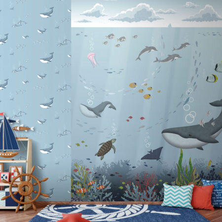 Mural Dandino ballena